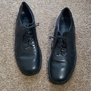 Mephisto Black Leather Loafers